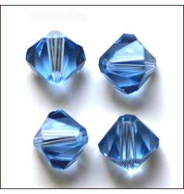 4mm Bicone  Light Sapphire Blue   'AAA'  Grade  x50