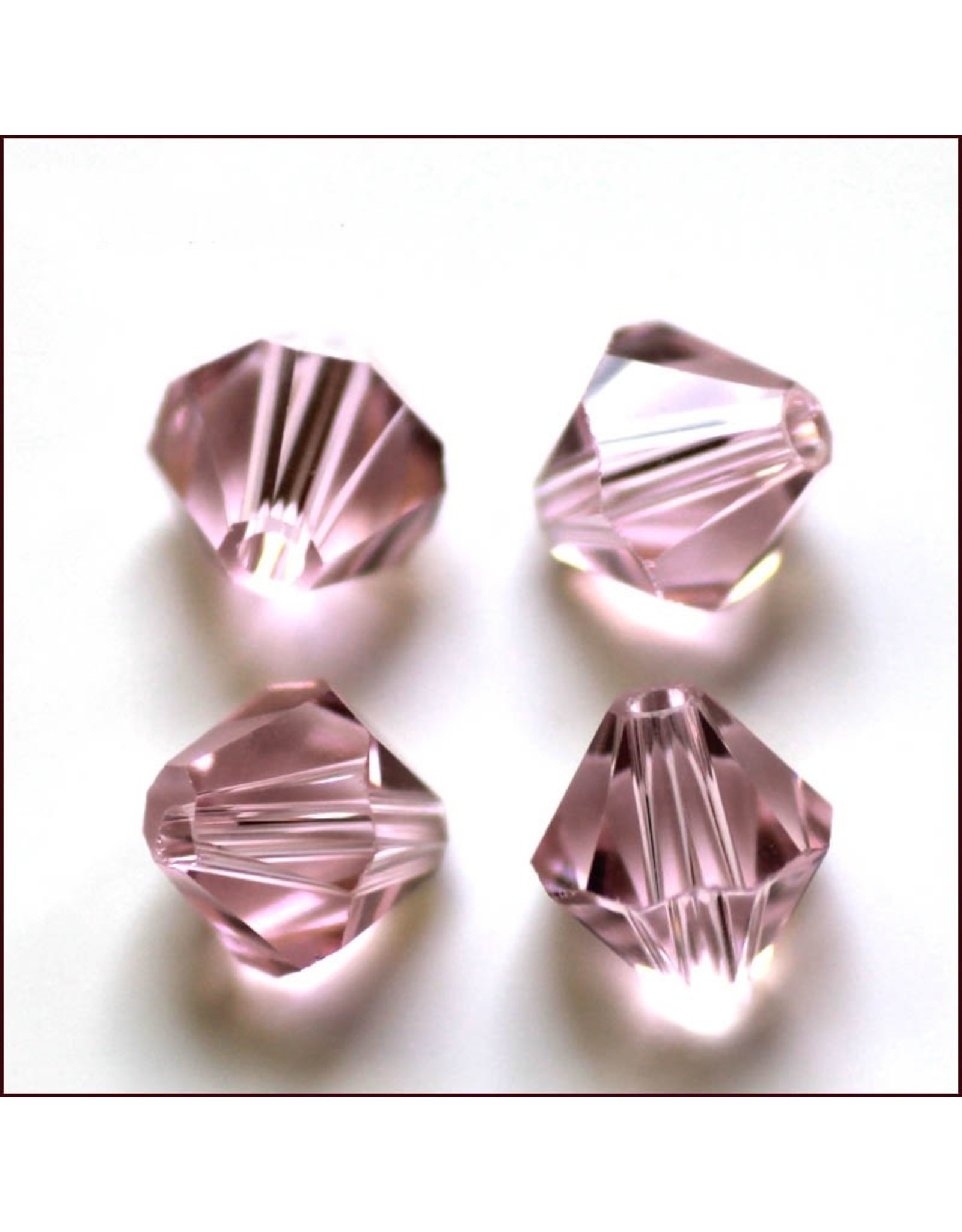 4mm Bicone  Pale Pink   'AAA'  Grade  x50