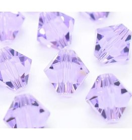 4mm Bicone  Violet Purple   'AAA'  Grade  x50