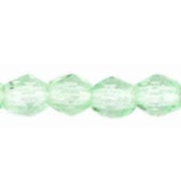 Czech 3mm Fire Polish Peridot Green  x50