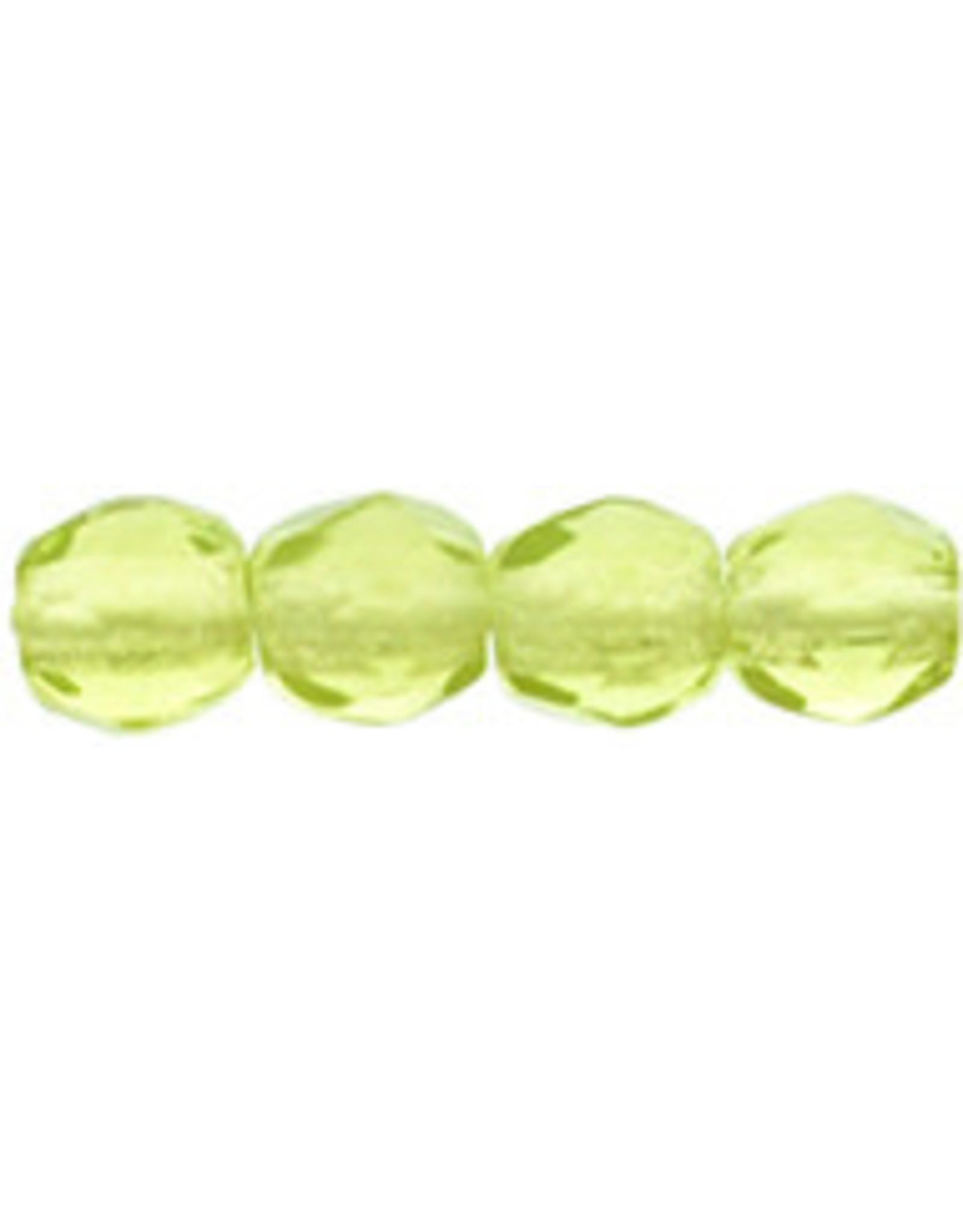Czech 3mm Fire Polish Olive Green  x50