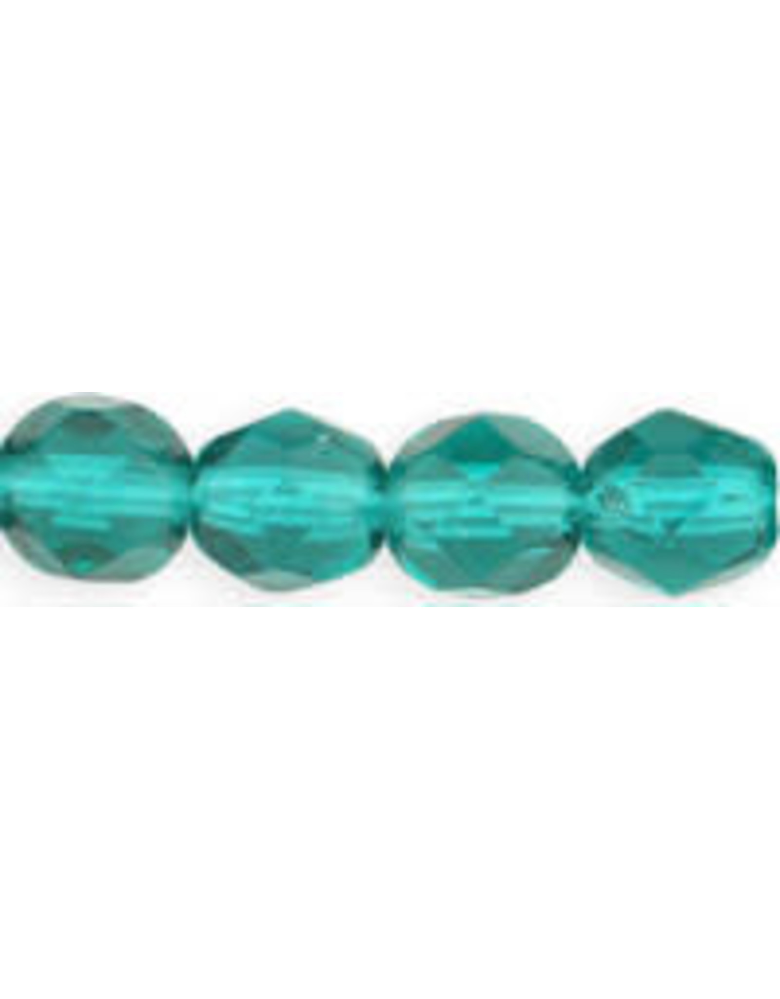 Czech 6mm Fire Polish  Light  Emerald  Green  x25