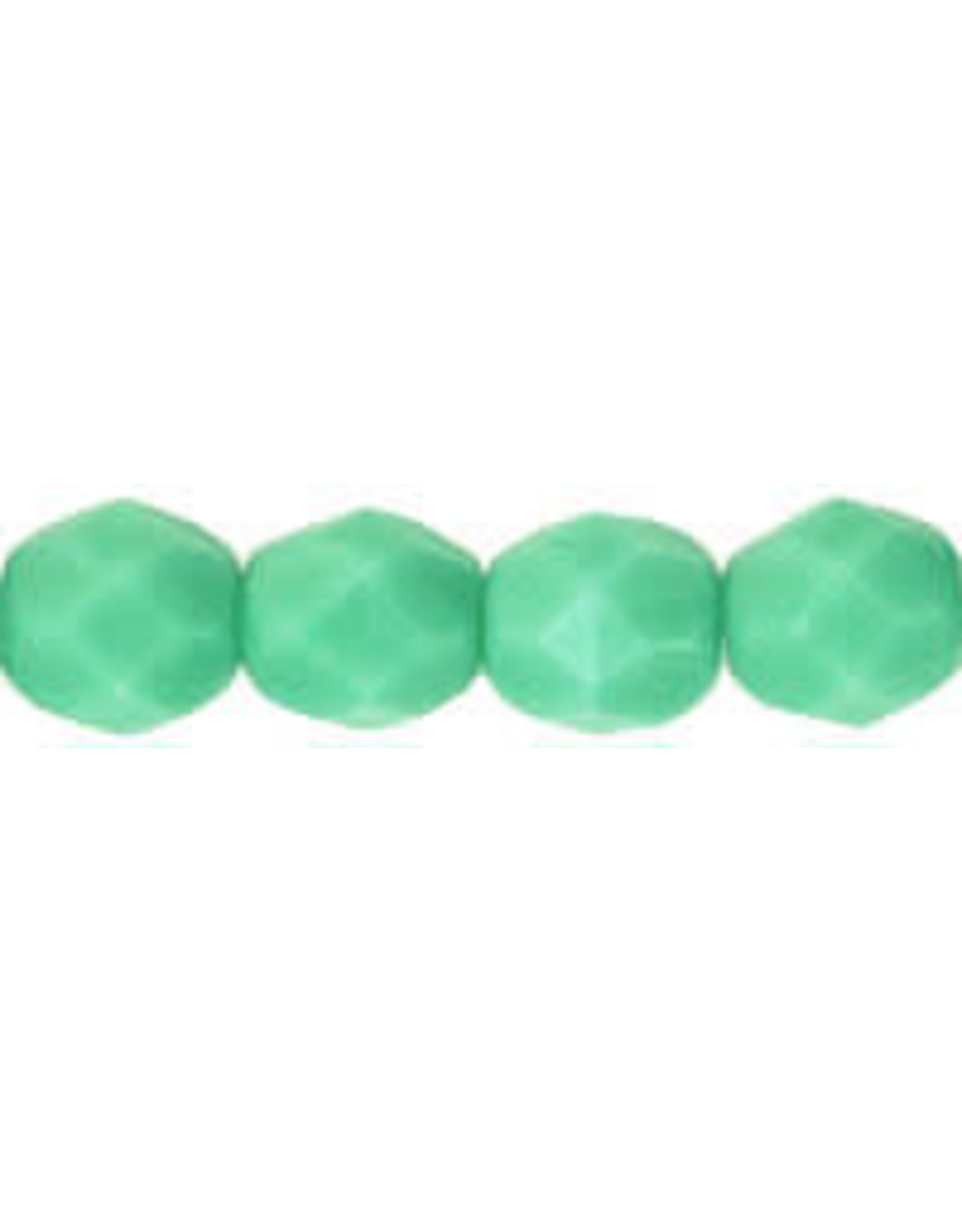 Czech 6mm Fire Polish Turquoise  Green  x25
