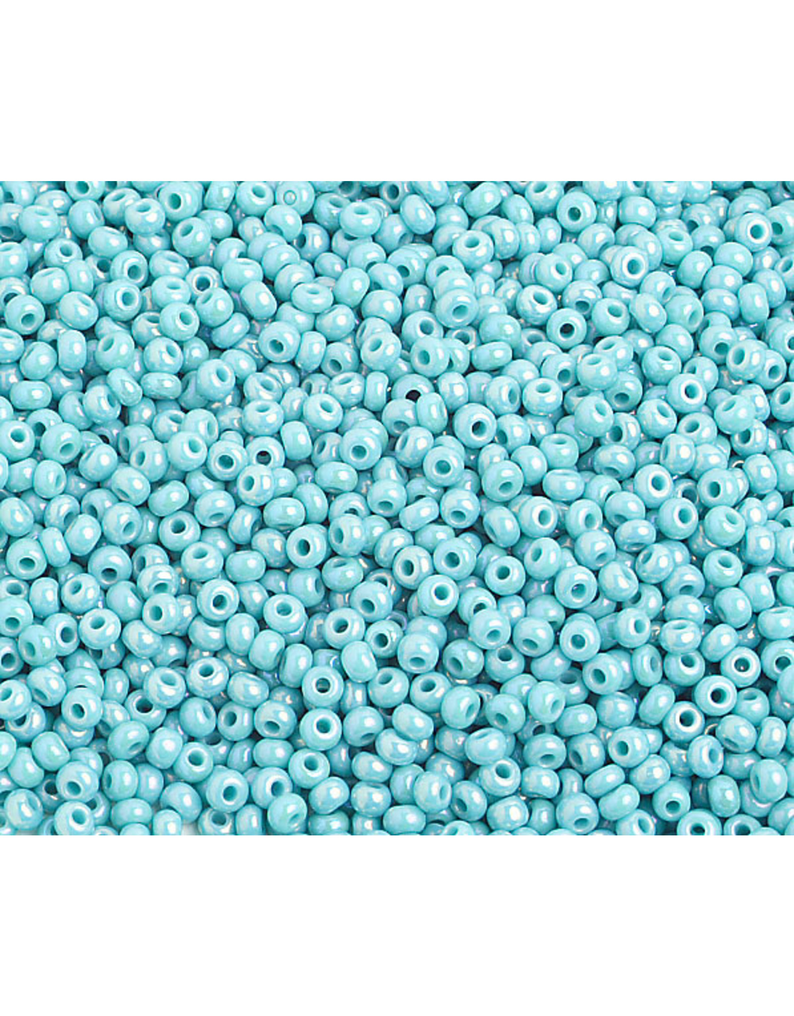 Czech 2314 10  Seed 20g  Opaque Turquoise  Blue AB