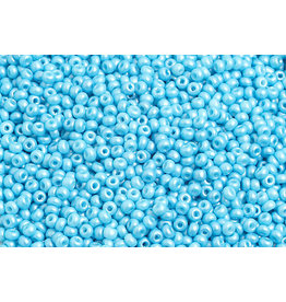 Czech *2334 10  Seed 10g  Opaque Shiny Turquoise Blue