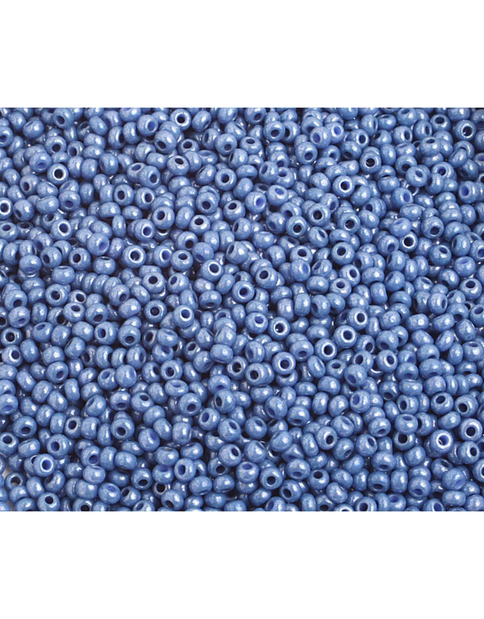 Czech *2375 10  Seed 10g  Opaque  Blue Lustre