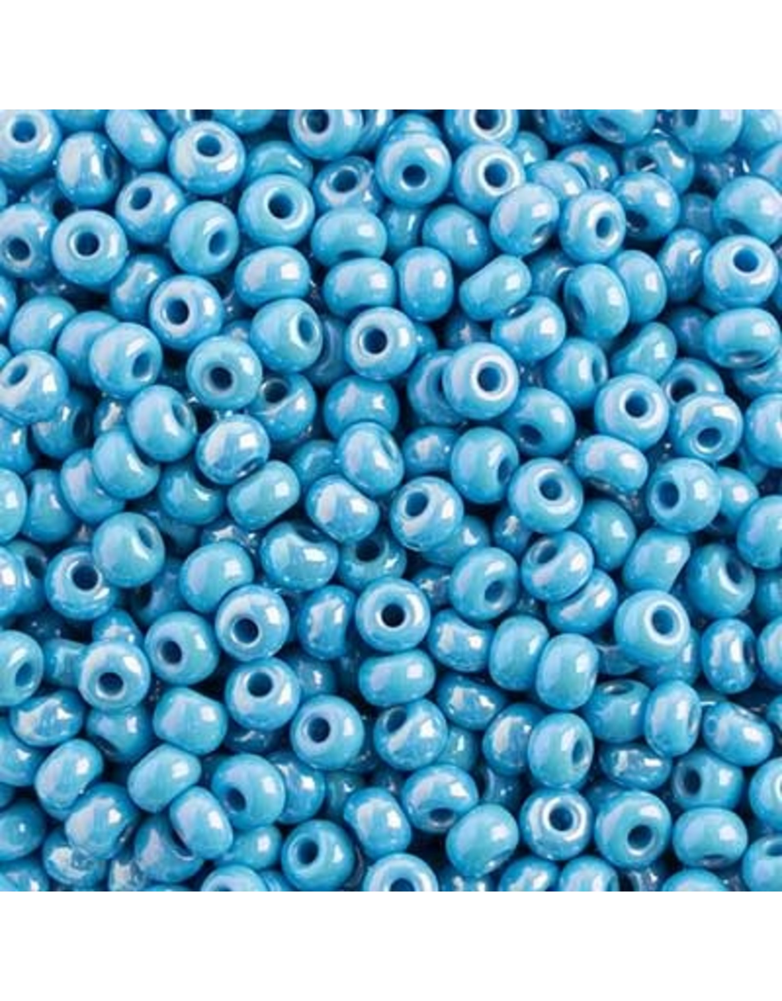 Czech 401015 6  Seed 20g  Opaque Light Blue AB