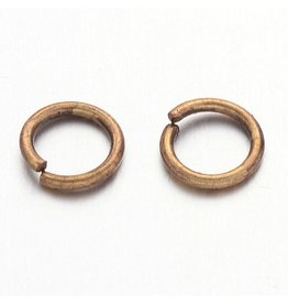 Jump Ring 5mm Antique Brass  approx 20g  x100 NF