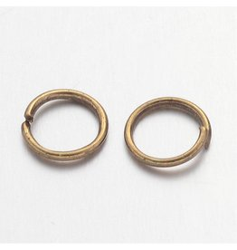 Jump Ring 6mm Antique Brass  approx 22g  x100 NF