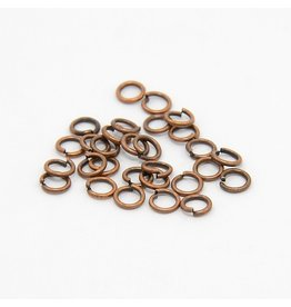 Jump Ring 4mm Antique Copper  approx 22g  x100 NF