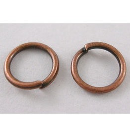 Jump Ring 6mm Antique Copper  approx 22g  x100 NF