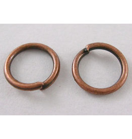 Jump Ring 8mm Antique Copper  approx 20g  x100 NF
