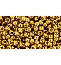 Toho pf591  8  Round 6g Old Gold Metallic