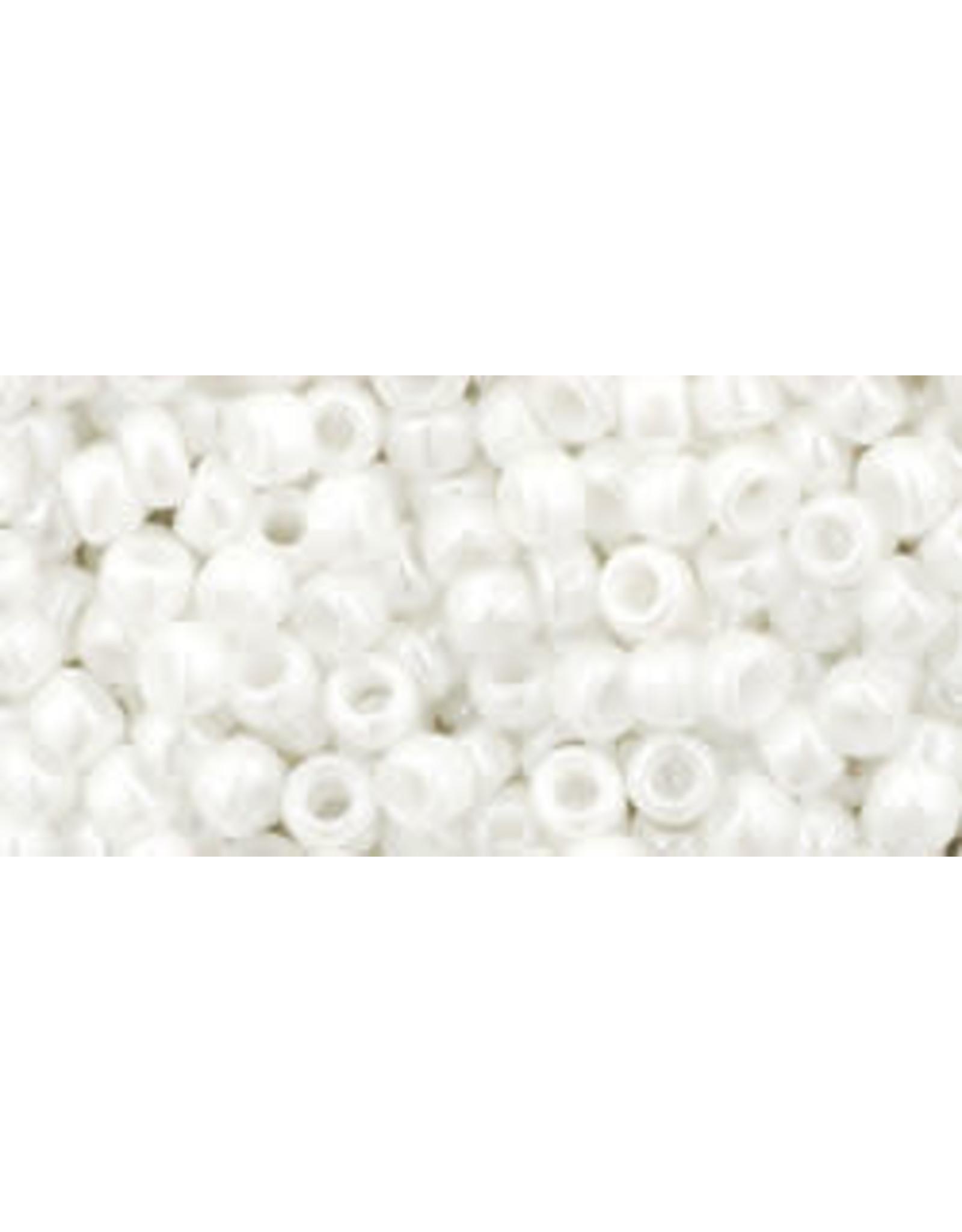 Toho 121 8  Round 6g Opaque White Lustre