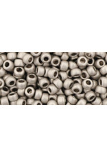 Toho pf558f 8  Round 6g  Silver Aluminium Matte Metallic