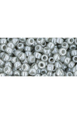 Toho 150 8  Round 6g  Opaque Grey Lustre