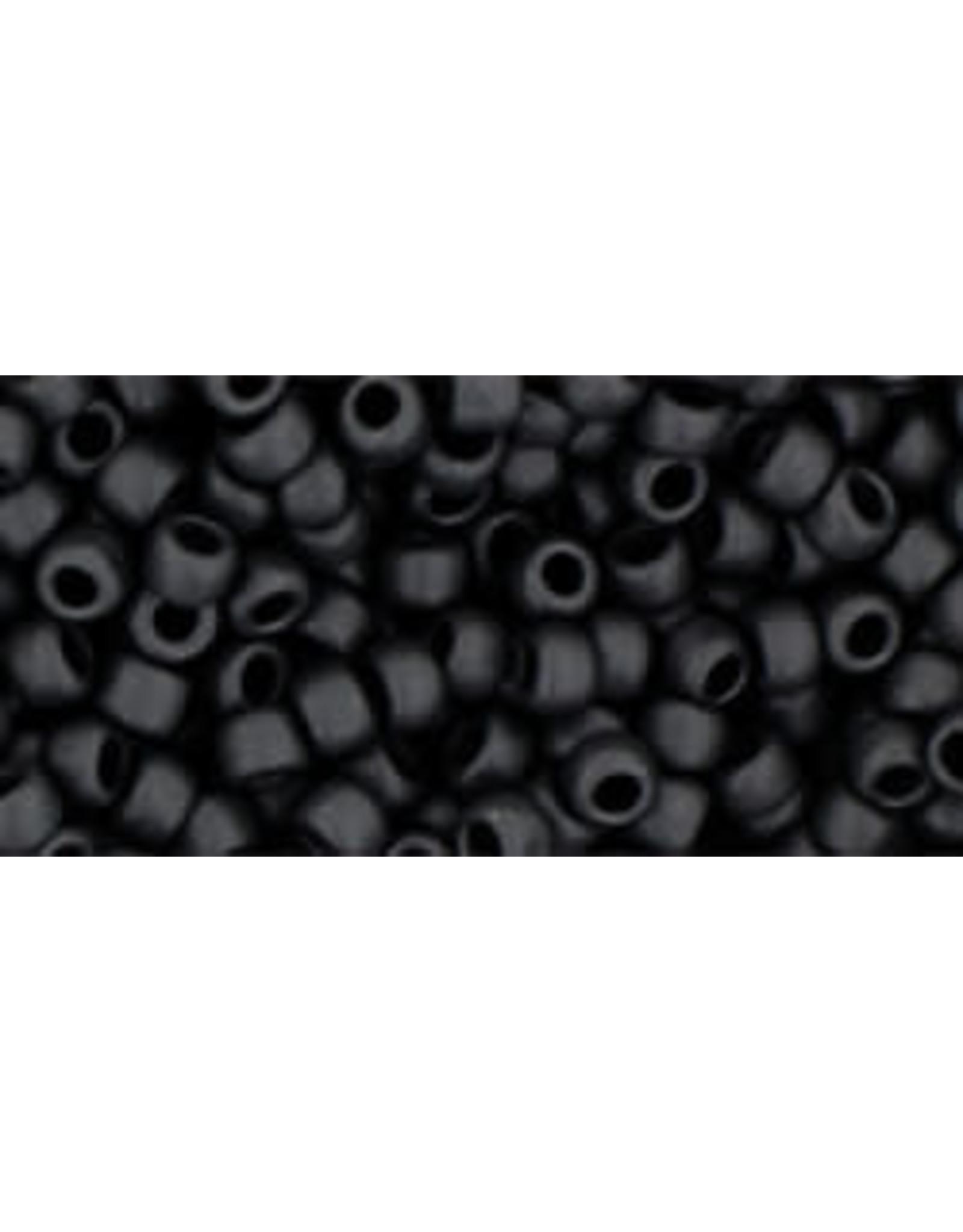 Toho 49f  8  Round 6g  Opaque Jet Black Matte