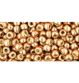 Toho pf551 8  Round 6g  Rose Gold   Metallic