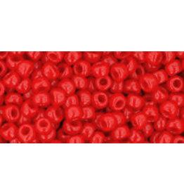 Toho 45a  8  Round 6g  Opaque Cherry Red