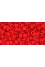 Toho 45af  8  Round 6g  Opaque Cherry Red Matte