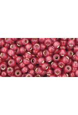 Toho 2113  8  Round 6g  Milky Pomegranate Red s/l