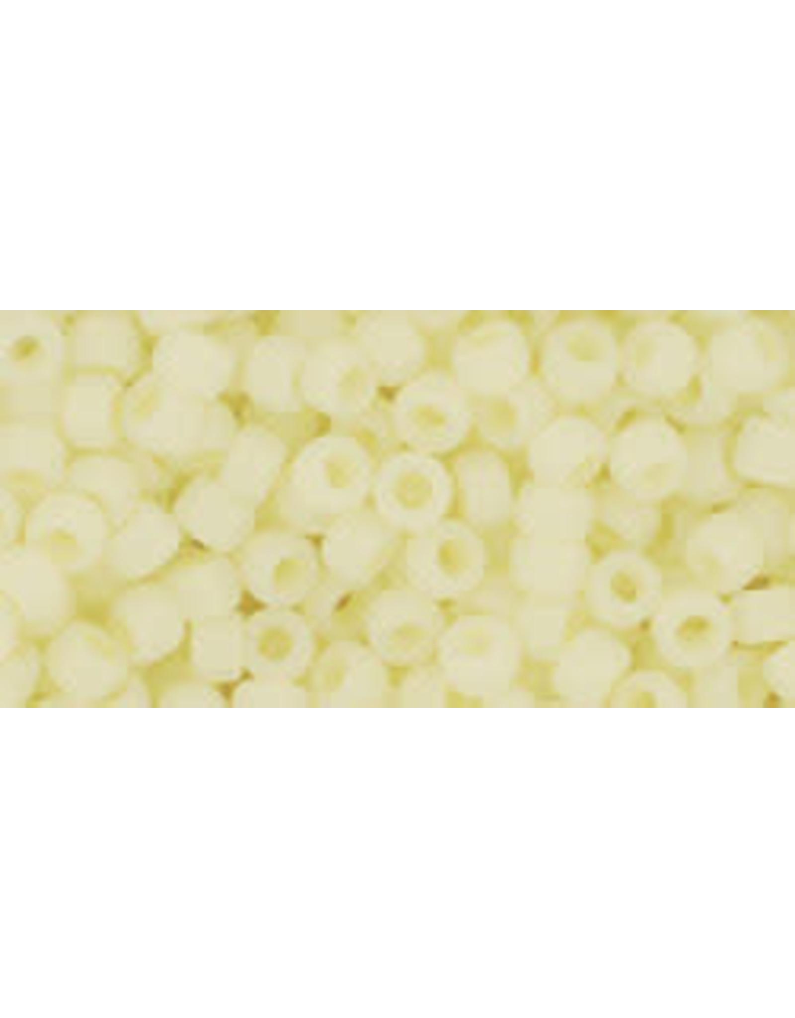 Toho 142f 8  Round 6g  Ceylon Yellow Matte