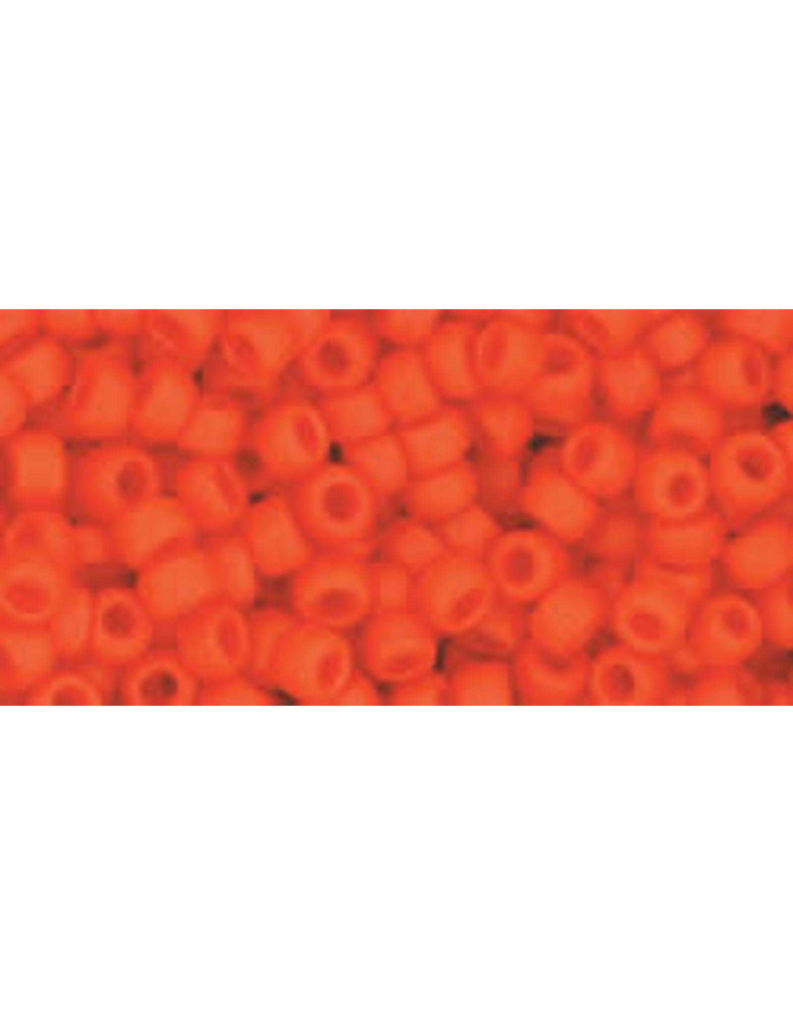 Toho 50f  8  Round 6g  Opaque  Dark Orange Matte