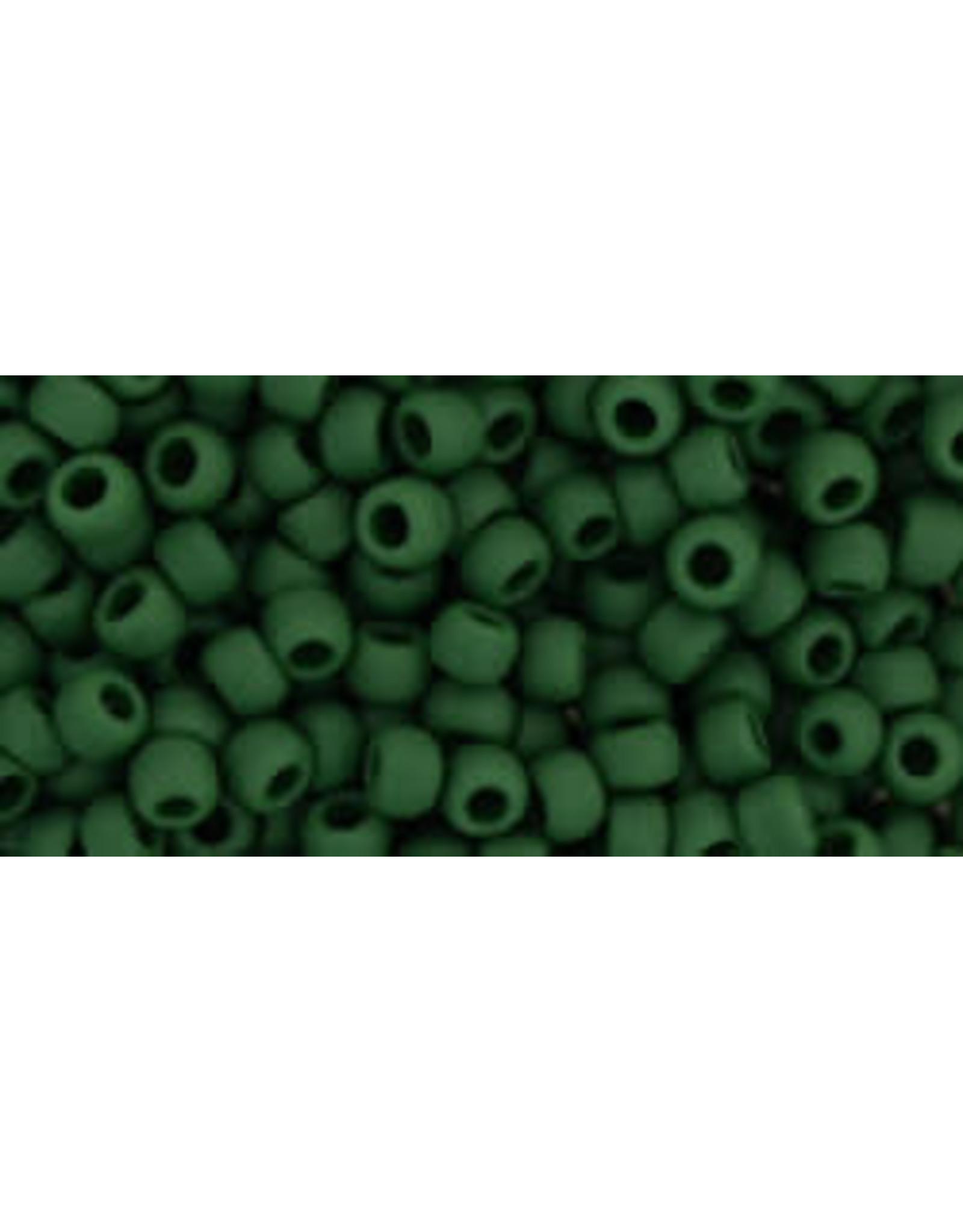 Toho 47hf  8  Round 6g  Opaque Pine Green   Matte