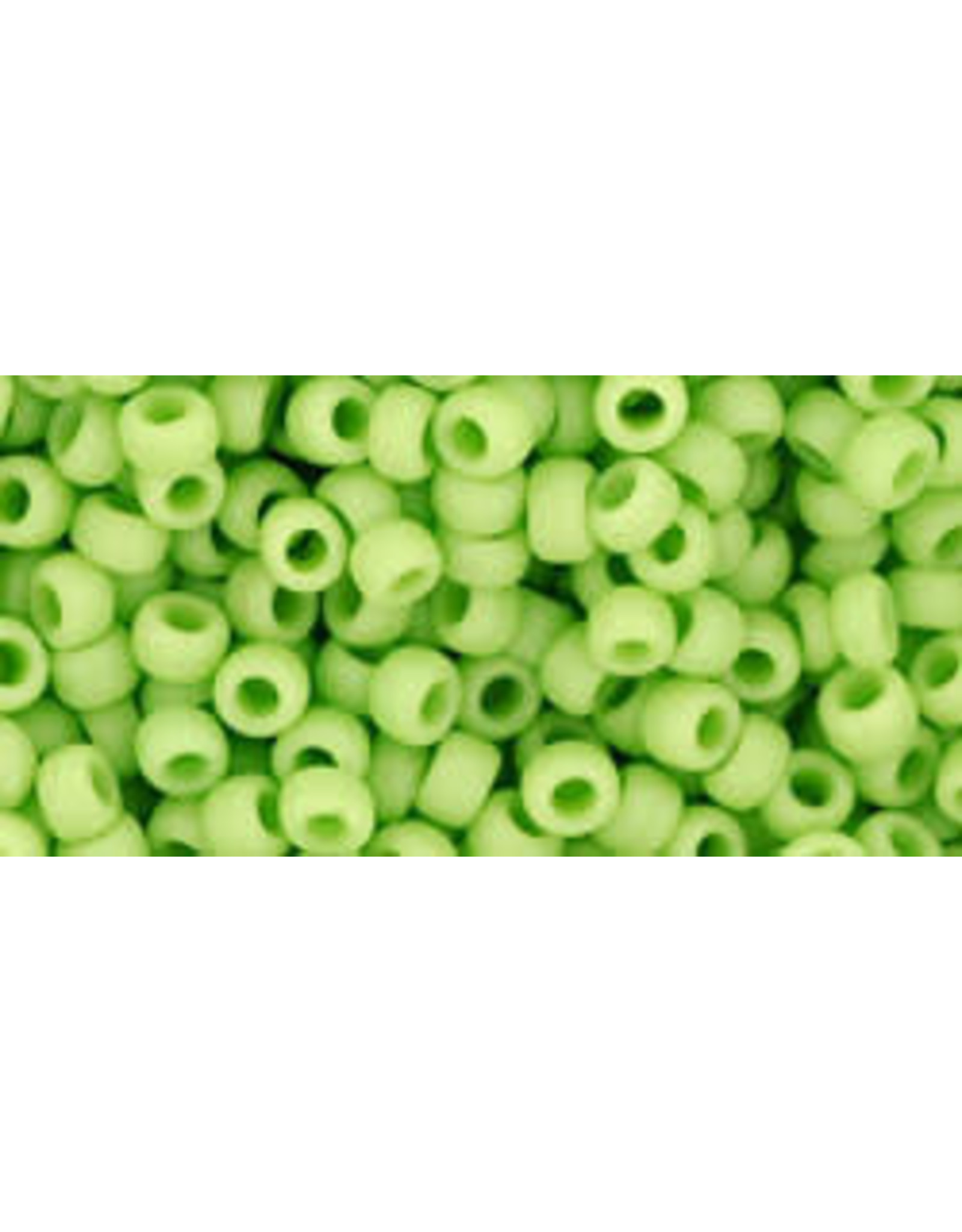 Toho 44f 8  Round 6g  Opaque Light Green Matte