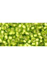 Toho 24f 8  Round 6g  Lime Green s/l Matte