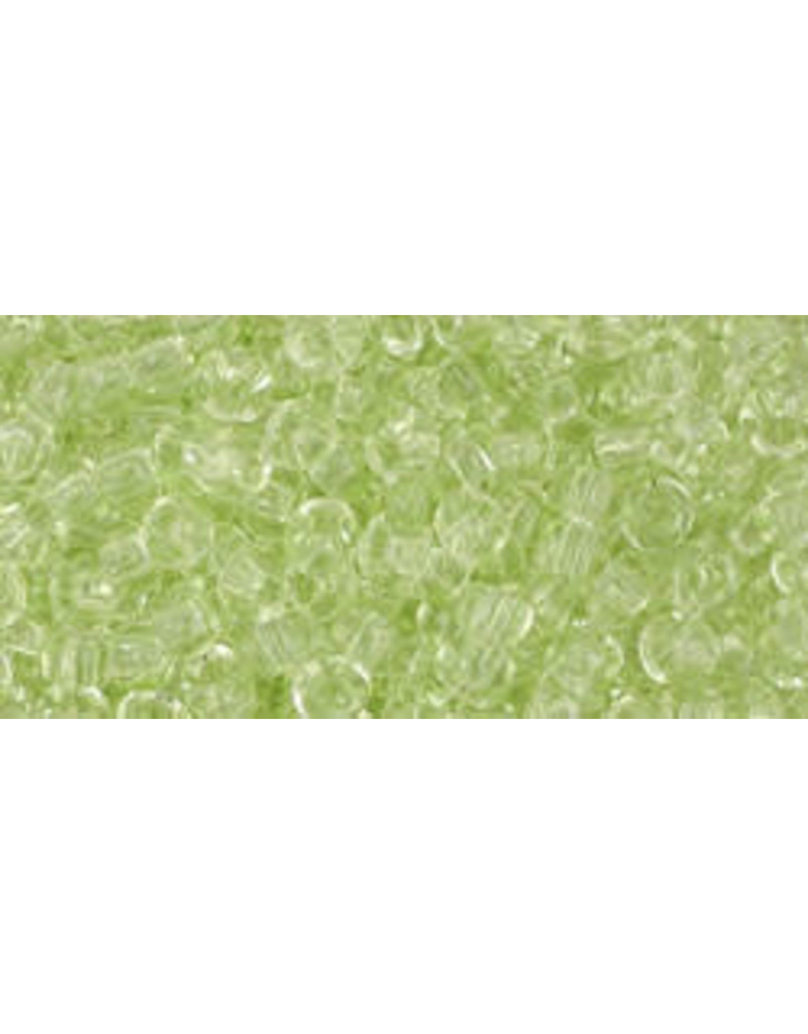 Toho 15 8  Round 6g Transparent Pale Green
