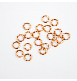 Jump Ring 6mm Copper  approx 16g  x100 NF