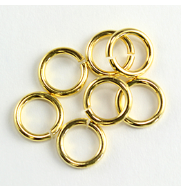 Jump Ring 6mm Gold  approx 16g  x100 NF