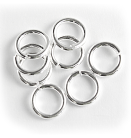 Jump Ring 6mm Silver  approx 16g  x100 NF