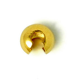 Crimp Cover 4mm Gold x50 NF