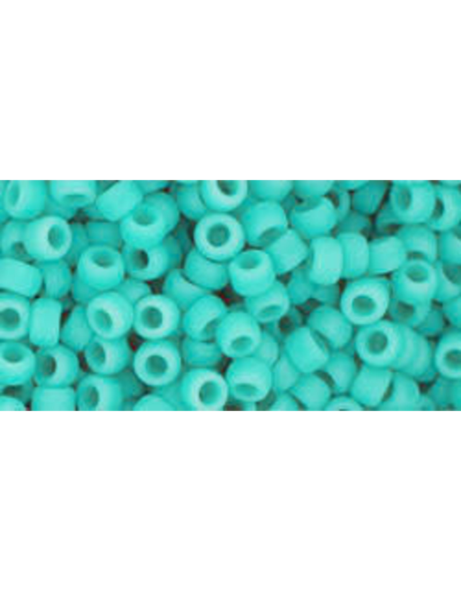 Toho 55f 8  Round 6g Opaque Turquoise Blue  Matte