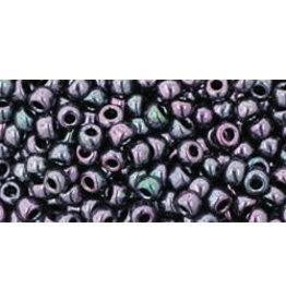 Toho 90  8  Round 6g  Amethyst Gunmetal  Purple  Metallic
