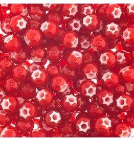 Czech *828013  2 Seed 10g   Red White Heart Star