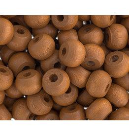 9mm Wood Crow Bead Coffee Brown x100