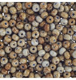 Czech *401526B  6  Seed 125g  Opaque Light Blue Travertine