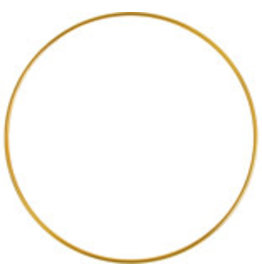 """*Metal Ring  8""""  Brass  x1"""