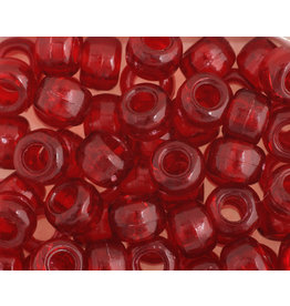 Crow Beads 9mm Transparent Red x500