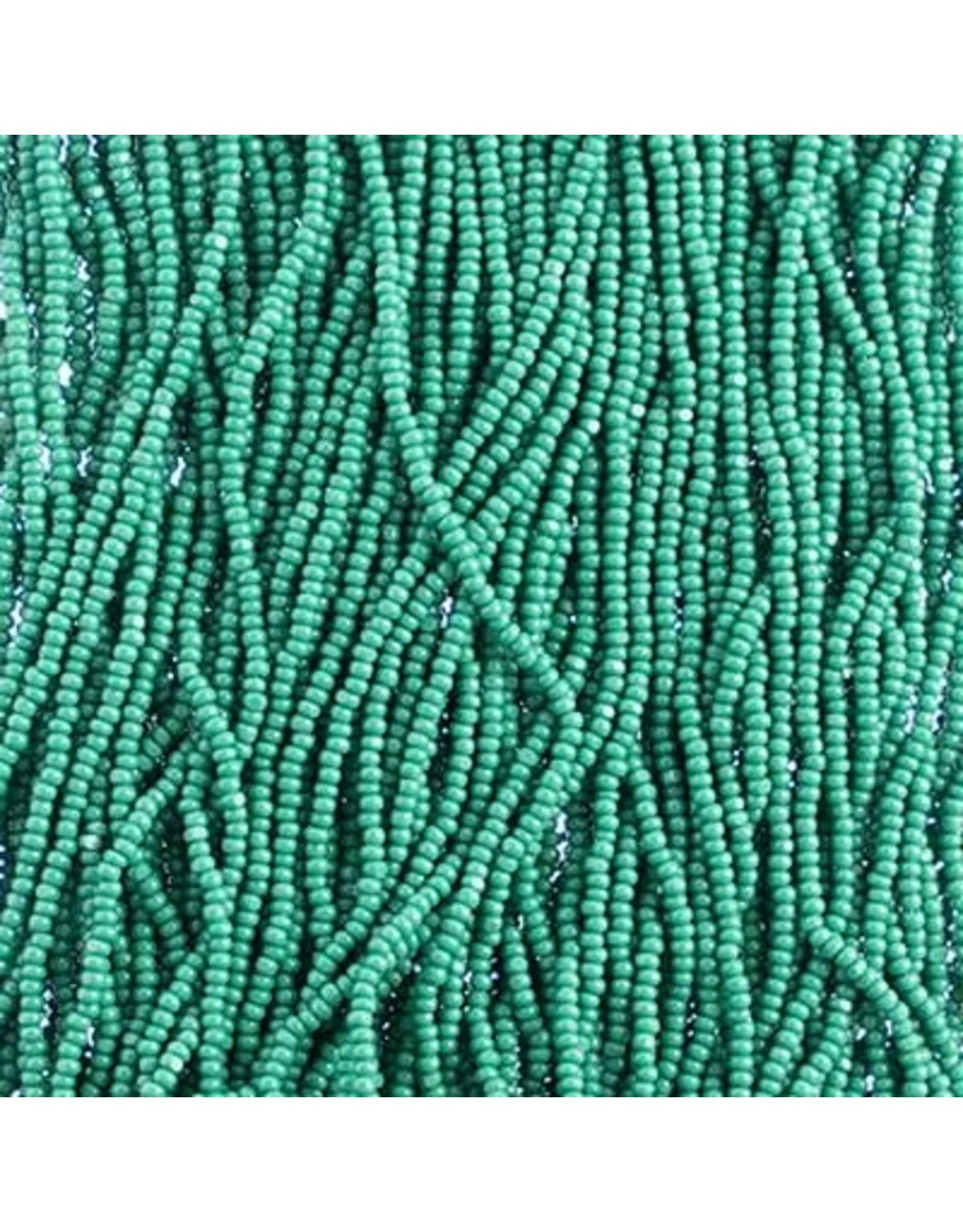 Czech 601097 13/0 Charlotte Cut Seed Hank 12g Opaque Medium Green