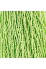 Czech 29307 13/0 Charlotte Cut Seed Hank 12g Opaque Light Green