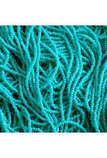 Czech 29302 13/0 Charlotte Cut Seed Hank 12g Opaque Turquoise Blue