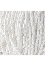 Czech 10004 9/0 3 Cut Seed Hank 30g  Opaque White Lustre