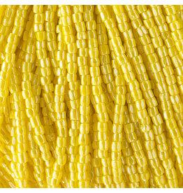 Czech 10036 9/0 3 Cut Seed Hank 30g Opaque Yellow Lustre