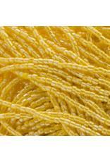 Czech 10016 9/0 3 Cut Seed Hank 30g Opaque Golden Yellow Lustre