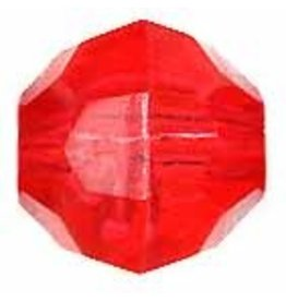 Faceted Round  8mm Transparent Raspberry Red x250