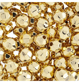 Faceted Round  8mm Gold x250